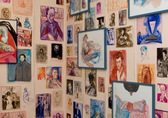 """Ausschnitt """"JE"""", Öl auf Rauhfaser, Papier und Leinwand, 360 cm x 300 cm, 2010"""
