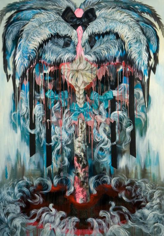 MARIE O´NETT, Öl auf Leinwand, 200 cm x 140 cm, 2010