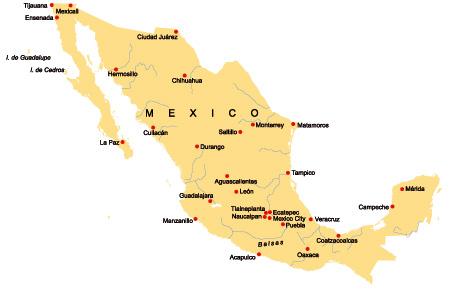 Landkarte Mexiko Culturmag