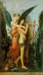 Gustave Moreau (1826–1898): Melpomene tröstet Hesiod