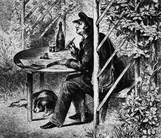 Jean Paul. Ernst Förster 1826.Quelle: Hesperus 16 (1958).