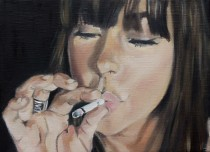 Smoke, 2007, oil on canvas 24x30 cm