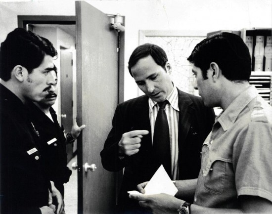 Joseph Wambaugh on the job at Hollenbeck Station in East LA, circa 1973. Quelle: Facebook
