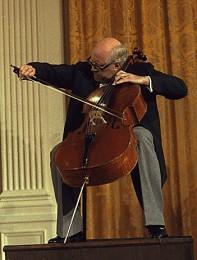 Cellist Mstislav Rostropovich, performing at the White House on September 17, 1978 (Wikicommons)