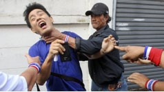 Thai man prevented from voting by Anti-government protesters
