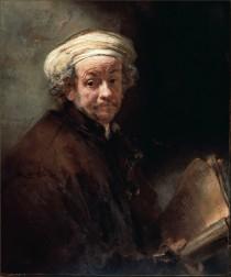 Rembrandt van Rijn Selbstporträt als Apostel Paulus, um 1661,RijksmuseuminAmsterdam