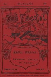 """Cover der Urausgabe der """"Fackel"""", April 1899 (Quelle)"""