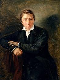 Heinrich Heine, Gemälde von Moritz Daniel Oppenheim (1831)