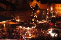 Weihnachtsmarkt-Karussell