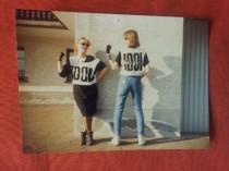 Frau Mohr mit Busenfreundin Gaby anno 1984/85
