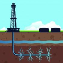 Schema einer Fracking-Bohrstelle (Bildquelle: thepilot.com)