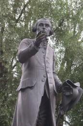 Kant-Denkmal in Königsberg (Bildhauer: Christian Daniel Rauch)
