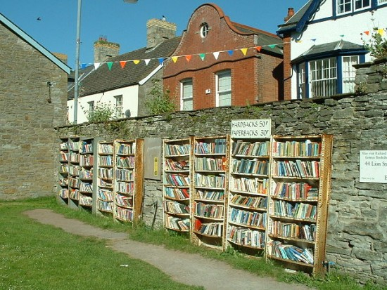 Bücherstand in Hay-on-Wye