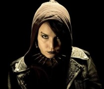 """""""Noomi Rapace as Lisbeth Salander"""" by Source. Licensed under Fair use via Wikipedia - http://en.wikipedia.org/wiki/File:Noomi_Rapace_as_Lisbeth_Salander.jpg#/media/File:Noomi_Rapace_as_Lisbeth_Salander.jpg"""