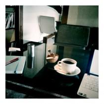 Im Café Bibliotic Hello