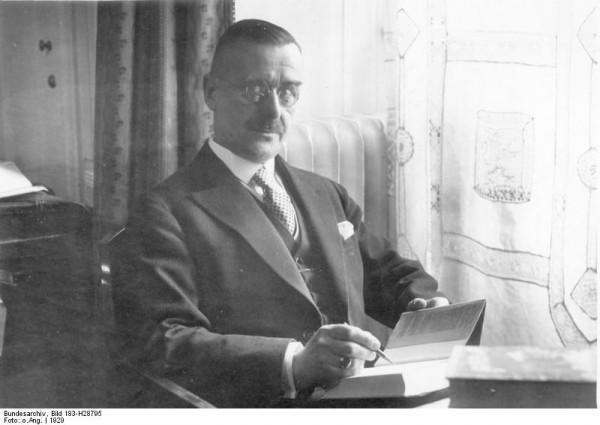 Thomas Mann, 1929