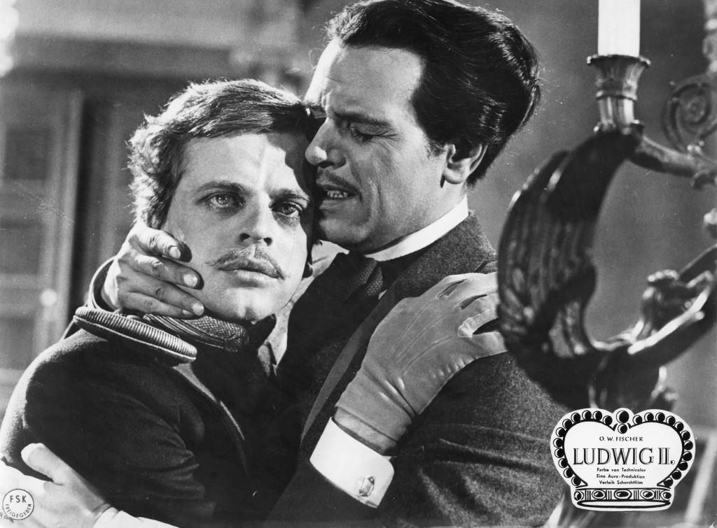 """""""Ludwig II. Glanz und Ende eines Königs"""" BRD 1954 Klaus Kinski, O.W. Fischer (v.l.n.r.) """"Ludwig II. Glanz und Ende eines Königs"""" BRD 1954 Klaus Kinski, O.W. Fischer (v.l.n.r.)"""