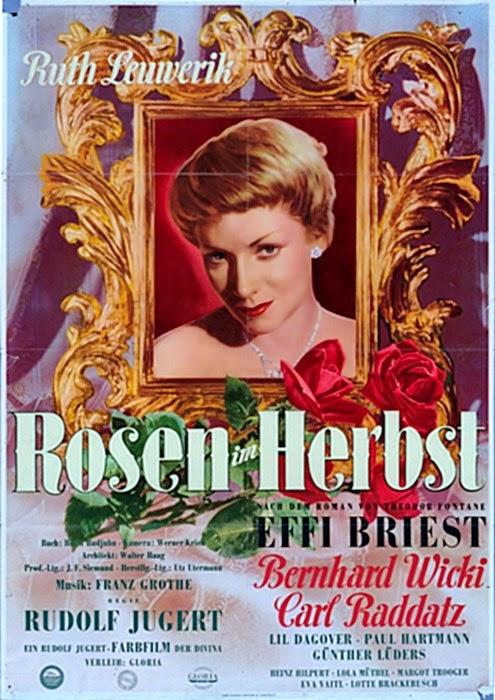 Rosen im Herbst Poster