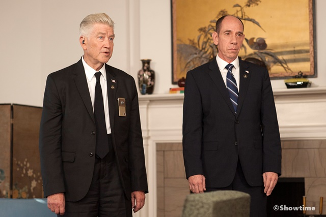 David Lynch and Miguel Ferrer in a still from Twin Peaks. Photo: Suzanne Tenner/SHOWTIME