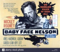BABY FACE NELSON, Mickey Rooney, 1957