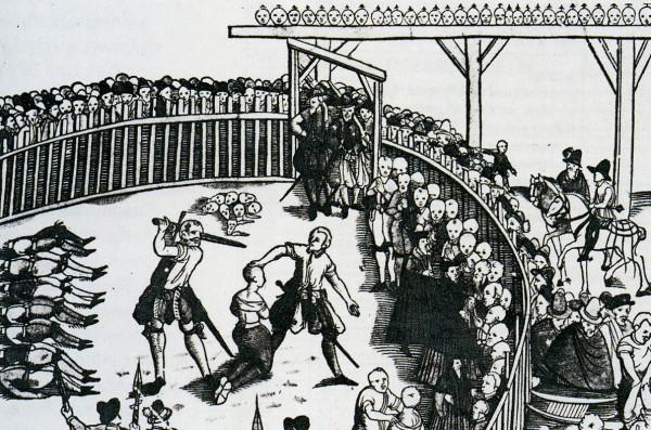 Hinrichtung von Seeräubern in Hamburg, 1573