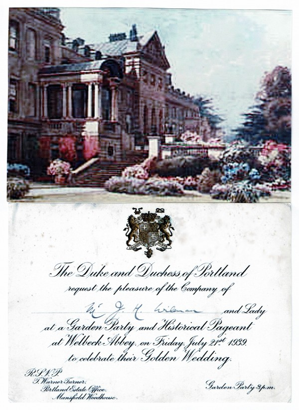 Wellbeck Abbey invitation