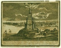 1700s Pharos of Alexandria Etching NYPL
