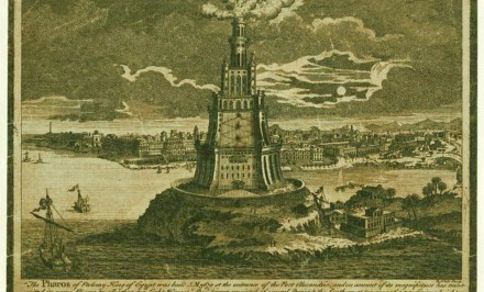1700s Pharos of Alexandria Etching NYPL