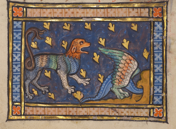 Getty Open Content, dragon flying over a panther