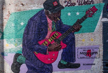 1) Wandmalerei in Clarksdale