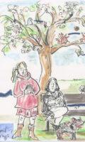 Birgit Kiupel : Das blaue Abstands-Band des Frühlings